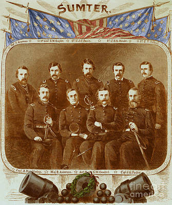 Officers Of The Union Garrison At Fort Poster