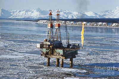 Offshore Oil Drilling Platform, Alaska Poster