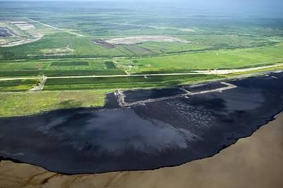Oil Plant Settling Pond Poster