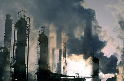 Oil Refinery, Pollution Poster by Ron Watts