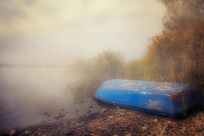 Old Boat In Morning Mist Poster by Joana Kruse