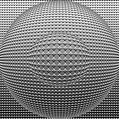 Optical Illusion Circle In Circle Poster by Sumit Mehndiratta