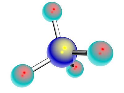 Osmium Tetroxide Molecule Poster