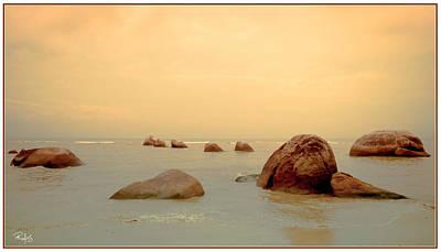 Pastel Rocks Poster by Allan Rufus