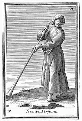 Persian Trumpet, 1723 Poster by Granger