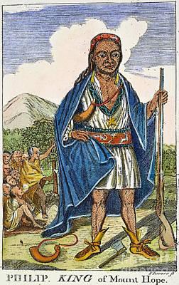 Philip Metacomet (d.1676) Poster by Granger