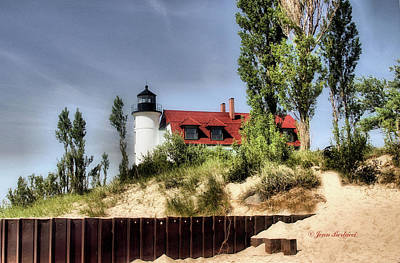 Poster featuring the photograph Point Betsie Lighthouse II by Joan Bertucci