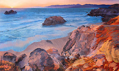 Point Lobos At San Francisco Poster