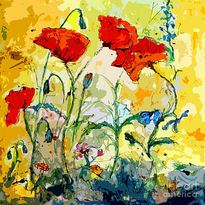 Poppies Provencale Poster by Ginette Callaway