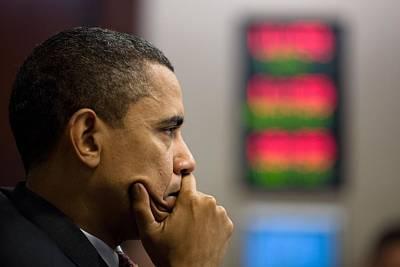 President Barack Obama Listens Poster by Everett