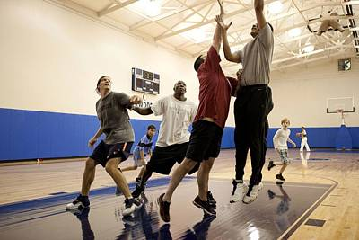 President Barack Obama Plays Basketball Poster
