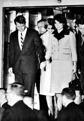 President John Kennedys Body Arrives Poster by Everett