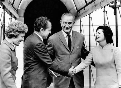 President Lyndon And Lady Bird Johnson Poster by Everett