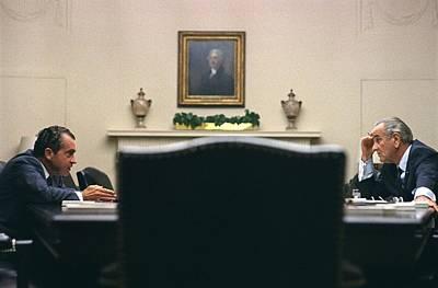 President Lyndon Johnson Meets Poster