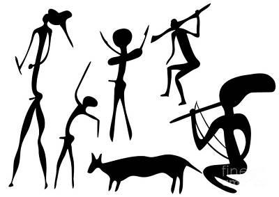 Primitive Art - Various Figures Poster by Michal Boubin