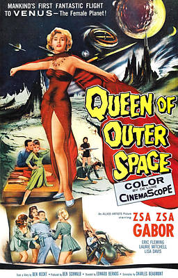 Queen Of Outer Space, Zsa Zsa Gabor Poster