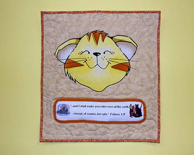 Quilted Cat  Poster by Sally Weigand