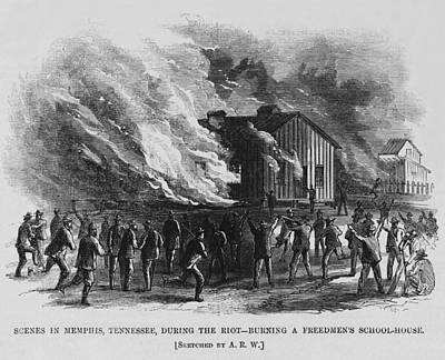 Race Riot In Memphis, Tennessee, May 2 Poster by Everett