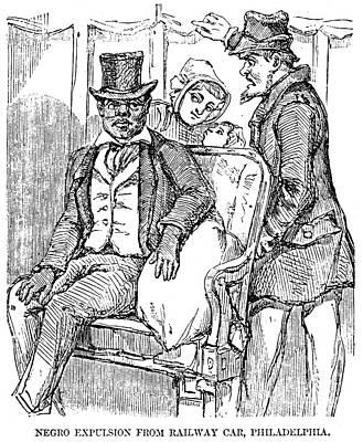 Railway Segregation, 1856 Poster