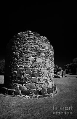 Remains Of The 6th Century Round Tower At The Monastic Site At Nendrum On Mahee Island County Down Poster