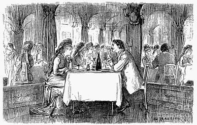 Restaurant, 19th Century Poster by Granger