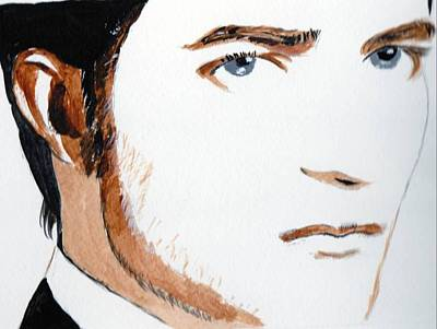 Poster featuring the painting Robert Pattinson 3 by Audrey Pollitt