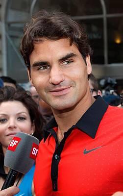 Roger Federer At A Public Appearance Poster