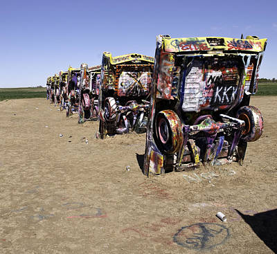 Poster featuring the photograph Rt 66 Cadillac Ranch by Paul Plaine
