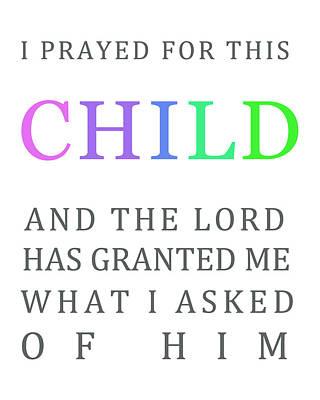 1 Samuel 1 Verse 27 Poster