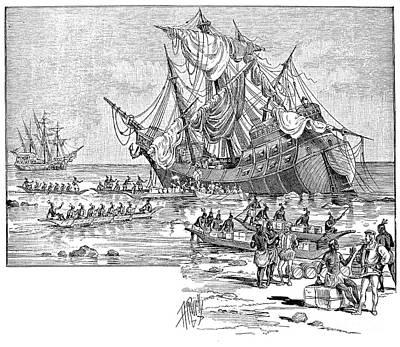 Santa Maria: Wreck, 1492 Poster by Granger