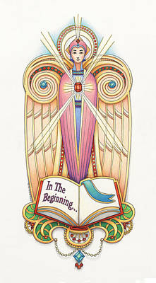 Scroll Angel - Ionica Poster