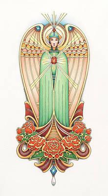 Scroll Angel - Roselind Poster