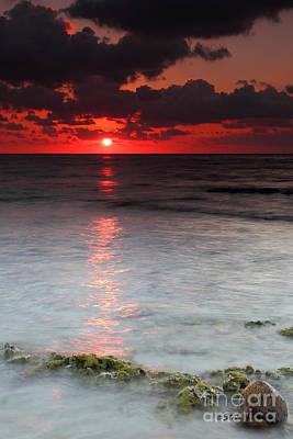 Sea Scape Sunrise Poster