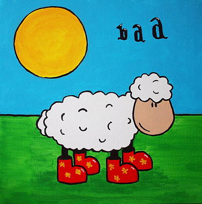 Poster featuring the painting Sheep by Sheep McTavish