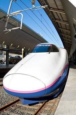 Shinkansen At Tokyo Station Poster by Ulrich Schade