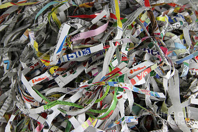 Shredded Paper Poster by Photo Researchers, Inc.