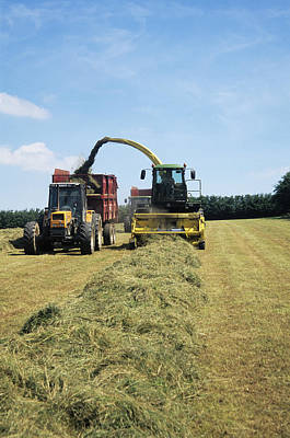 Silage Making Poster by David Aubrey