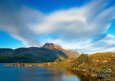 Slioch Across The Waters Of Loch Maree Poster by Maciej Markiewicz