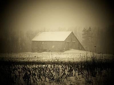 Snow Barn Poster by Michael L Kimble