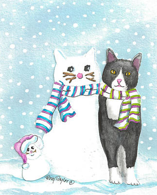 Snow Cats Poster
