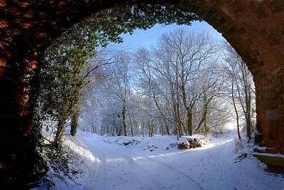 Snow Through The Bridge Poster