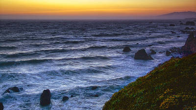 Poster featuring the photograph Sonoma Coast Sunset by Joe Urbz