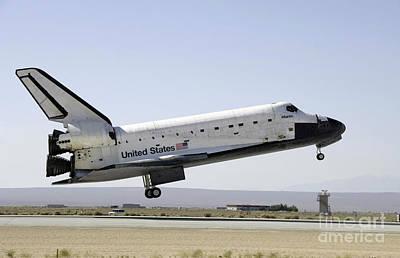 Space Shuttle Atlantis Prepares Poster by Stocktrek Images