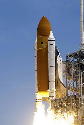 Space Shuttle Atlantis Twin Solid Poster