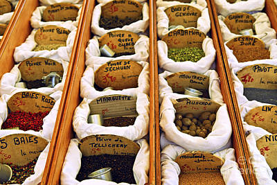 Spices On The Market Poster