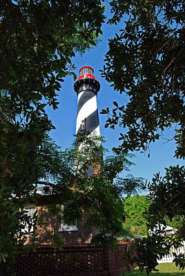 St Augustine Lighthouse Poster by Skip Willits