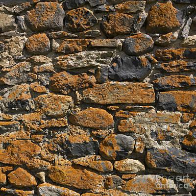 Stone Wall Poster by Bernard Jaubert