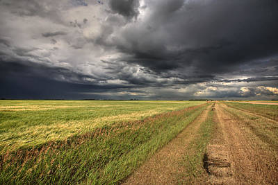 Storm Clouds Over Saskatchewan Poster