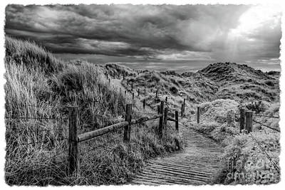 Stormy Sand Dunes - Infrared Photography Poster