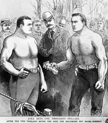 Sullivan Vs. Kilrain, 1889 Poster by Granger